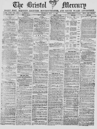 cover page of Bristol Mercury published on July 14, 1887