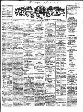 cover page of Caledonian Mercury published on July 11, 1865