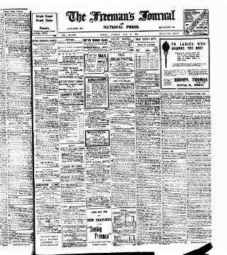 cover page of Freeman's Journal published on May 18, 1915