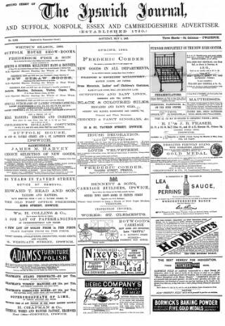 cover page of The Ipswich Journal published on May 5, 1883
