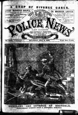 cover page of Illustrated Police News published on May 9, 1908