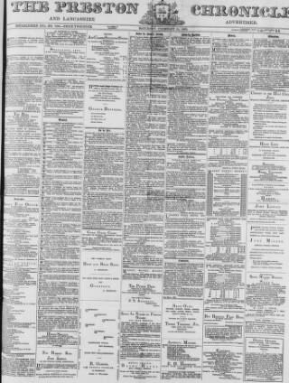 cover page of Preston Chronicle published on February 26, 1876