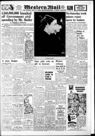 cover page of Western Mail published on February 28, 1952