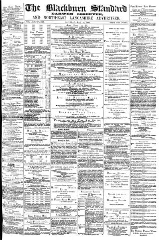 cover page of Blackburn Standard published on May 15, 1880
