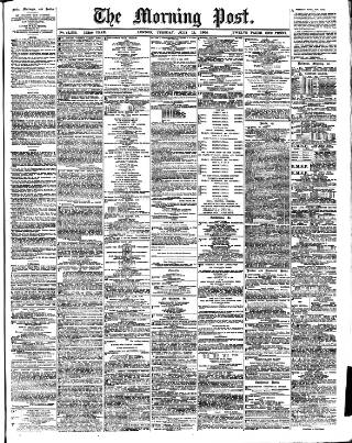 cover page of Morning Post published on July 11, 1905