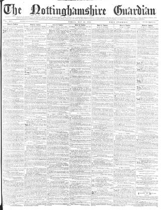 cover page of Nottinghamshire Guardian published on May 16, 1884