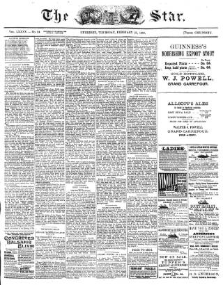 cover page of The Star published on February 25, 1897