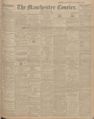cover page of Manchester Courier and Lancashire General Advertiser published on July 7, 1905