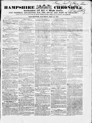 cover page of Hampshire Chronicle published on May 16, 1868