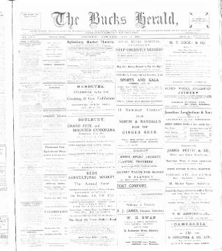 cover page of Bucks Herald published on July 7, 1923