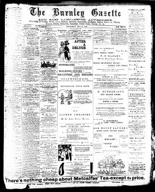 cover page of Burnley Gazette published on May 15, 1897