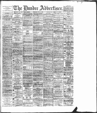 cover page of Dundee Advertiser published on May 9, 1889