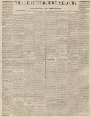 cover page of Leicestershire Mercury published on May 18, 1844