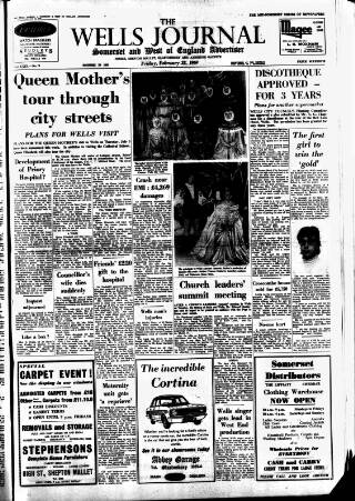 cover page of Wells Journal published on February 28, 1969