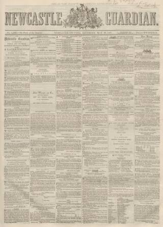 cover page of Newcastle Guardian and Tyne Mercury published on May 18, 1867