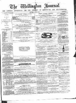 cover page of Wellington Journal published on August 8, 1857