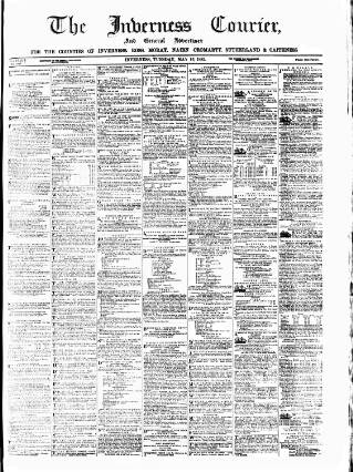 cover page of Inverness Courier published on May 16, 1882
