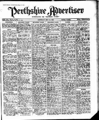 cover page of Perthshire Advertiser published on May 15, 1943