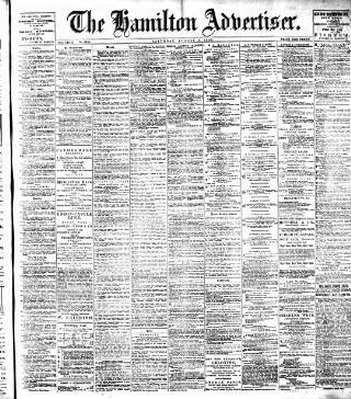 cover page of Hamilton Advertiser published on August 8, 1903
