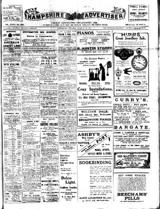 cover page of Hampshire Advertiser published on February 28, 1920