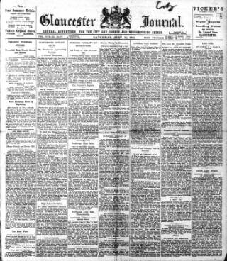 cover page of Gloucester Journal published on July 14, 1923