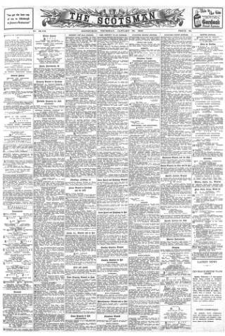 cover page of The Scotsman published on January 22, 1942
