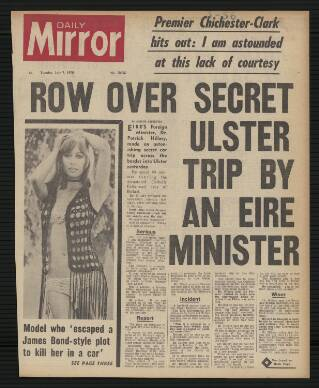 cover page of Daily Mirror published on July 7, 1970