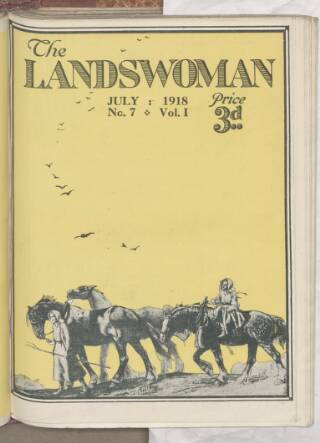 cover page of Landswoman published on July 1, 1918
