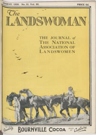 cover page of Landswoman published on August 1, 1920