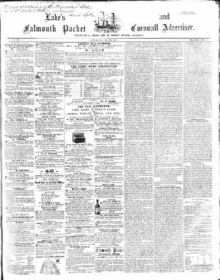 cover page of Lake's Falmouth Packet and Cornwall Advertiser published on July 11, 1863