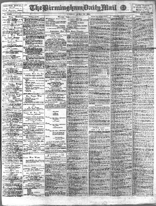 cover page of Birmingham Mail published on April 23, 1918