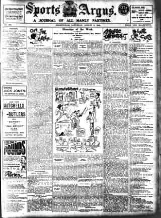 cover page of Sports Argus published on August 8, 1908