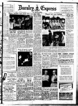 cover page of Burnley Express published on July 16, 1949