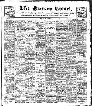 cover page of Surrey Comet published on May 16, 1891