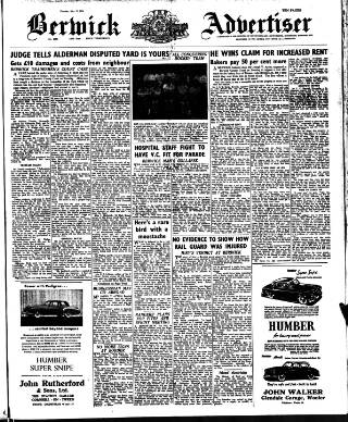 cover page of The Berwick Advertiser published on May 17, 1956