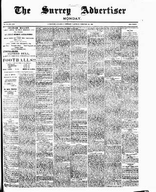 cover page of Surrey Advertiser published on February 26, 1900