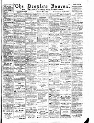 cover page of Aberdeen People's Journal published on July 11, 1885
