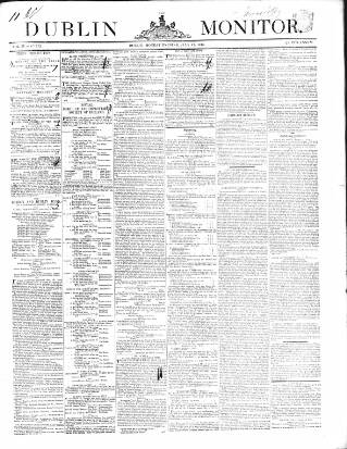 cover page of Dublin Monitor published on July 11, 1842