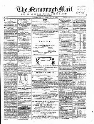 cover page of Enniskillen Chronicle and Erne Packet published on May 17, 1866