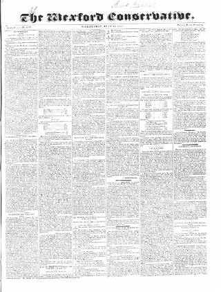 cover page of Wexford Conservative published on July 14, 1841