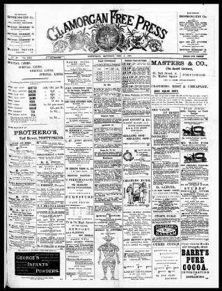 cover page of Glamorgan Free Press published on July 1, 1899
