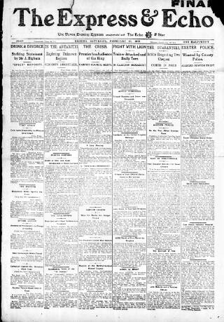 cover page of Express and Echo published on February 26, 1910