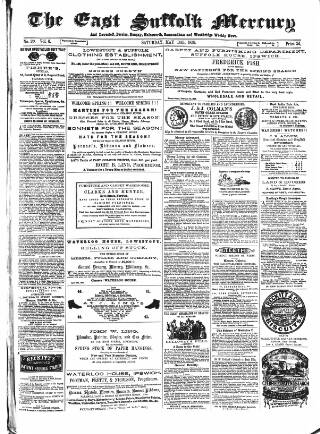 cover page of East Suffolk Mercury and Lowestoft Weekly News published on May 14, 1859