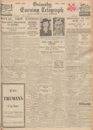 cover page of Grimsby Daily Telegraph published on May 16, 1939