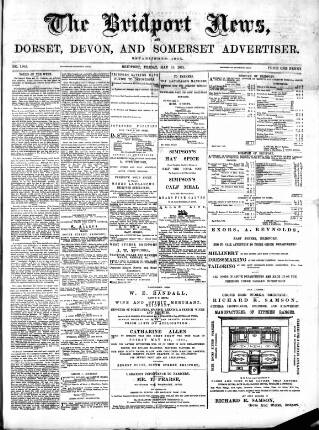 cover page of Bridport News published on May 15, 1891