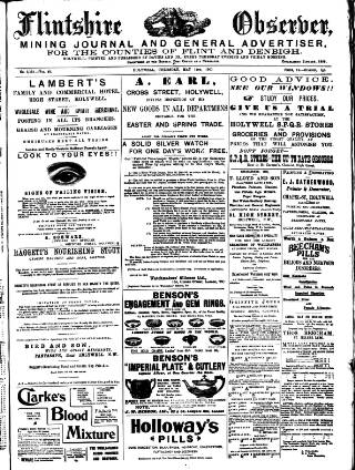 cover page of Flintshire Observer published on May 14, 1903