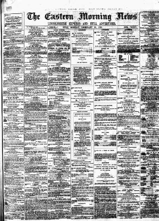 cover page of Eastern Morning News published on February 28, 1881