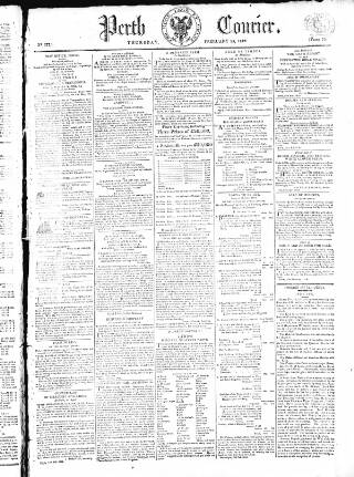 cover page of Perthshire Courier published on February 25, 1819
