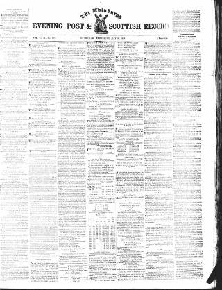 cover page of Edinburgh Evening Post and Scottish Standard published on May 30, 1849