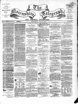 cover page of Nairnshire Telegraph and General Advertiser for the Northern Counties published on July 16, 1862